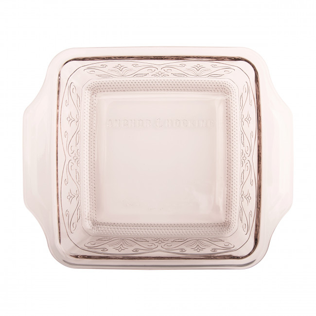 Anchor Hocking Laurel Embossed 8inch Rosewater Premium Cake Dish
