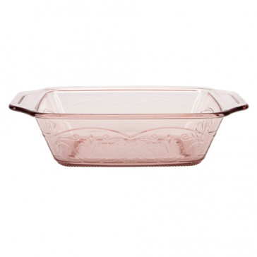 Anchor Hocking Laurel Embossed 1.5qt Rosewater Premium Loaf Dish