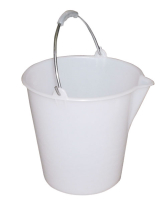 12 LITRE PLASTIC BUCKET, WHITE FOOD GRADE