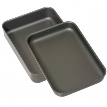 16inch Hard Anodised Roasting Dish & Baking Tray Set