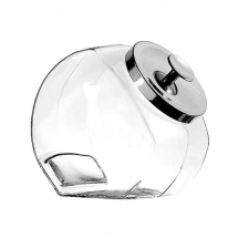 1/2 Gallon Glass Jar with Chrome Lid Pack of 4