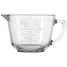 2 Litre  Glass Batter Bowl/Jug Pack of 4
