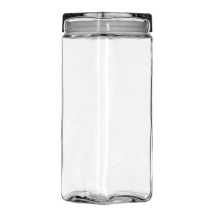 2.5Qt Square Stackable Glass Jar Pack of 2