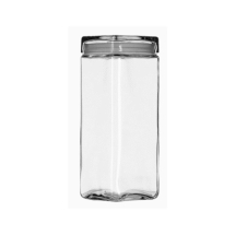 1L Stack Jar W/ Chrome Lid Pack of 6
