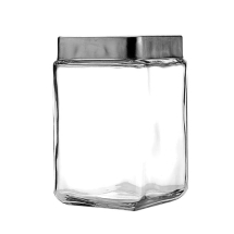 1.5L Stack Jar W/Chrome Lid Pack of 6