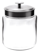 96 oz Mini Montana Glass Jar with Aluminum Lid, Pack of 2