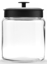 64oz Mini Montana Jar W/Black Metal Lid Pack of 2