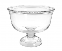 Isabella Glass Footed/Punch /Trifle Bowl Pack of 2