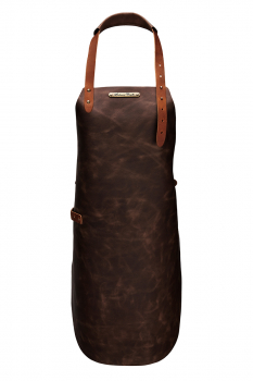 Rustic Classic Leather Apron For Her Brown