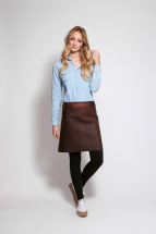 Rustic Leather Long Waist Apron Brown