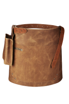 Rustic Leather Short Waist Apron Whiskey