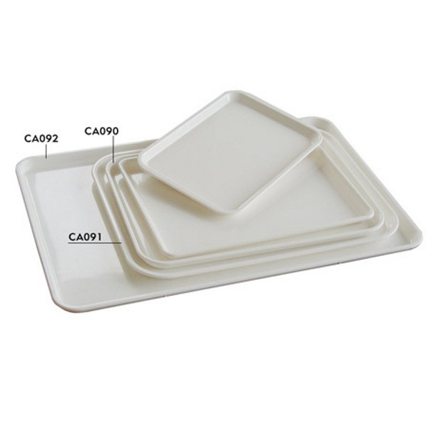 FOOD DISPLAY TRAY 600X400mm WHITE ABS