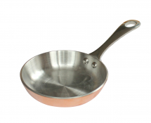 Mini Copper Frying pan,With One s/s Casting Long Handle