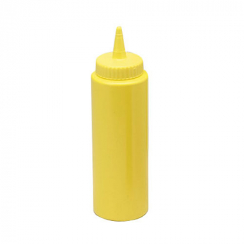 SQUEEZE DISPENSERS, YELLOW, 24 OZ,PER 12