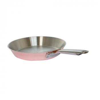 8Inch Copper Tri-ply Traditional Frying Pan