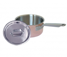 20cm Copper Tri-Ply Saucepan & Stainless Steel Lid