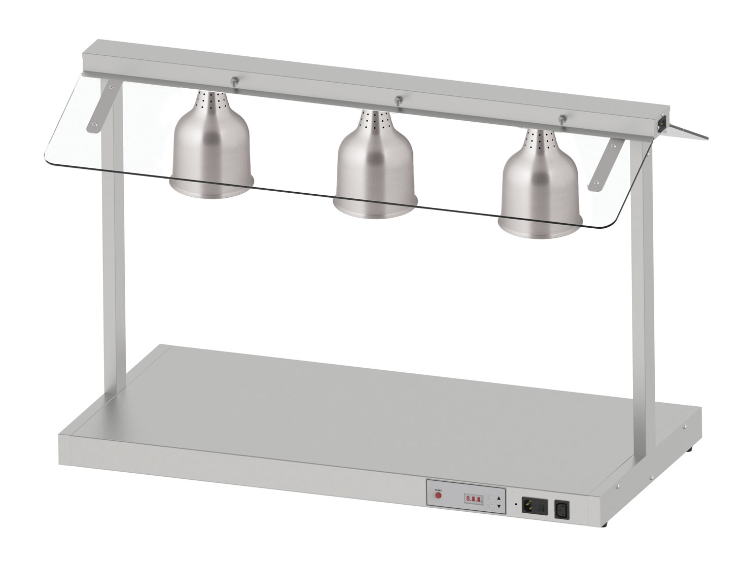Electric Carvery 3 Lamp Unit Base & Glass Guard