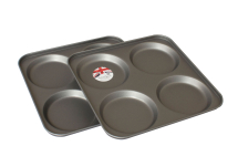 4 Cup Yorkshire Pudding Twinpack 23x23x2cm Non Stick