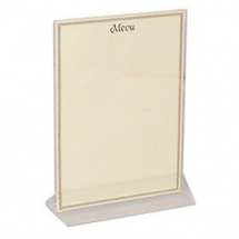 MENU HOLDER A5 CLEAR PERSPEX
