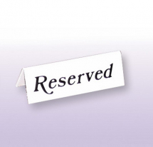 Reserved Table Sign White Pack of 20