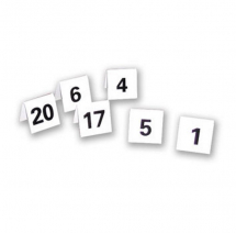 TABLE NUMBERS-NUMBERED 1 TO 25