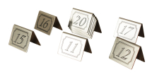 TABLE NUMBERS,SET OF 11-20 STAINLESS STEEL