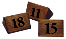 WOODEN TABLE NUMBERS 11-20 PACK OF 10