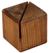 WOODEN BLOCK MENU HOLDER 3MM GROOVE PACK OF 10