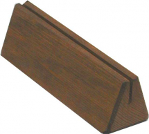 WOODEN PLINTH MENU HOLDER H:45XW:150XD:45mm 3MM GROOVE
