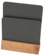 WOODEN DOUBLE SIDED CHALK MENU HOLDER