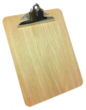 WOODEN CLIPBOARD BULLDOG CLIP NATURAL STAIN A4