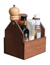 WOODEN CARRY CONDIMENT HOLDER H185 X D155 X W200MM