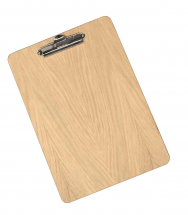 PREMIUM WOODEN CLIP BOARD NATURAL FIXED CLIP