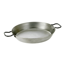 10inch Natural Black Iron Paella Pan