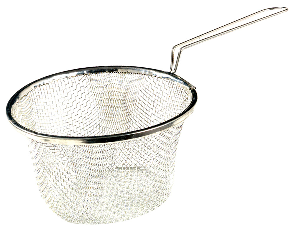 Stainless Steel Blanching & Chip Basket, 200 x 100 mm