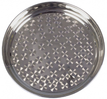 Stainless Steel Patterned Swirl Tray 40cm