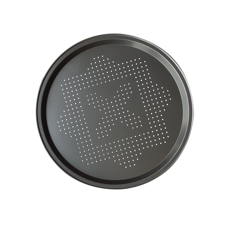 14.5inchPizza Pan Perforated Carbon Steel dia 370mmx17mm