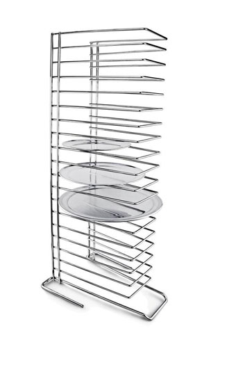 Chrome Plated Steel Pizza Tray Rack (Holds 18) 14.5x13x38x5inch