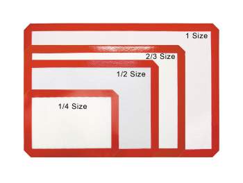 Silicone Baking Mats for Bun Pans 1/4 Size. L 9 x 13Inch