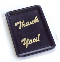 TIP TRAY BLACK THANK YOU PACK OF 10