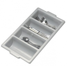 4 COMPARTMENT CUTLERY BOX/GREY