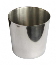 Chip Cup Plain S/Steel 8X8cm Pack of 12