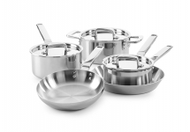 Elegance 5 Piece Tri-Ply Stainless Steel Set