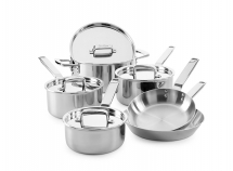 Elegance 6 Piece Tri-Ply Stainless Steel Set
