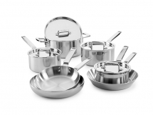 Elegance 7 Piece Tri-Ply Stainless Steel Set