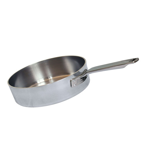 7Inch Stainless Steel Triply Saute Straight Sided Sautepan (178mm Dia.)