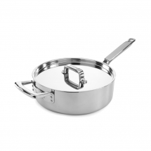 26cm Elegance Stainless Steel Triply Sautepan With Lid