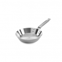 8inch Stainless Steel Tri-ply Straight Sided Frying Pan