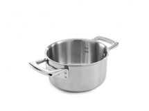 Elegance 16cm Stainless Steel Tri-Ply Casserole Pan & Lid