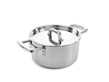 Elegance 20cm Stainless Steel Tri-Ply Casserole Pan & Lid